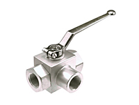 AE3K 'True' Three-Way Block Body Threaded Ball Valves