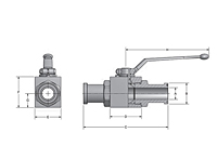 AES Two-Way Block Body Flange Head Ball Valves