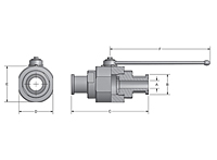 ABS Two-Way Round Body Flange Head Ball Valves