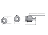 AES/F & ABS/F Two-Way Flange Head x Flat Faced Ball Valves