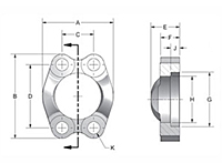 SAE J518 Captive Carbon Steel Flanges