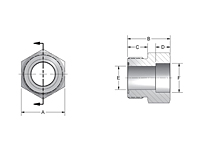CD61/CD62 Braze-On ORFS Thread Tube Fittings