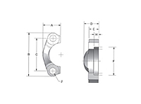 SAE J518 Split Stainless Steel Flanges