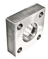 3000 Series Flat Socket Weld Square 4-Bolt Stainless Steel Flanges