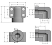 CD62 Elbow Socket Weld Tube 4-Bolt Flanges