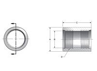 SAE to SAE Full Couplings
