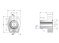 CD61/CD62 Male ORFS 4-Bolt Flanges