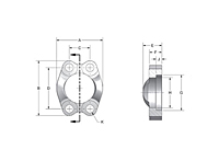 SAE J518 Captive Stainless Steel Flanges