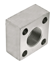 3000 Series NPTF Thread Square 4-Bolt Stainless Steel Flanges